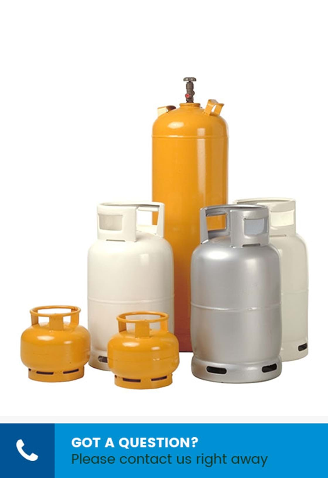 image of clean new painted LPG cylinders